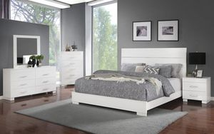 Brand new gray or white full bed frame for Sale in San Diego, CA