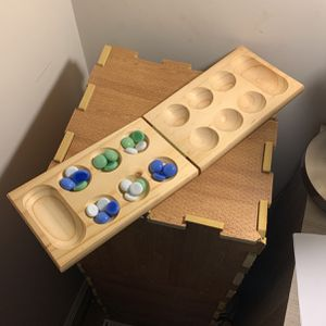 Mancala playing board with 24 marbles for Sale in Rockville, MD