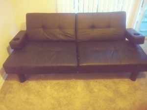 Leather futon (very comfortable) like new$100 for Sale in Vero Beach, FL