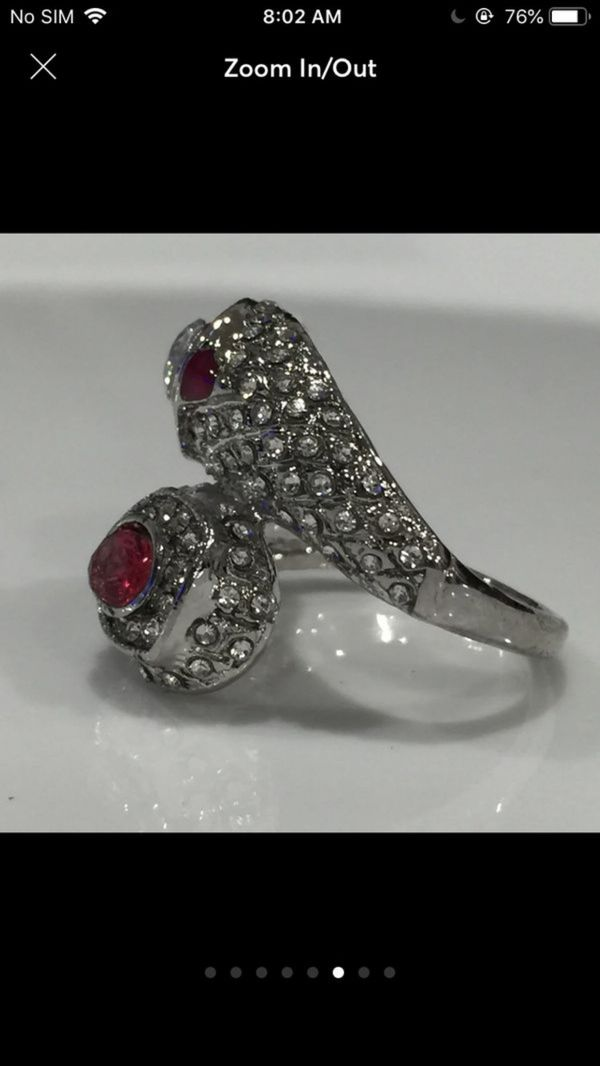 Deco silver ring size 8
