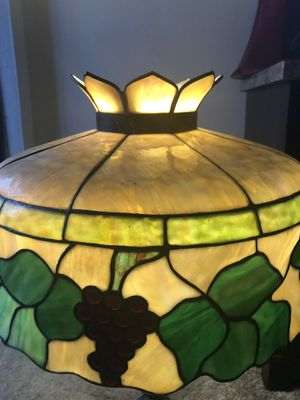 Hand made stain glass chandelier lamp for Sale in North Charleston, SC