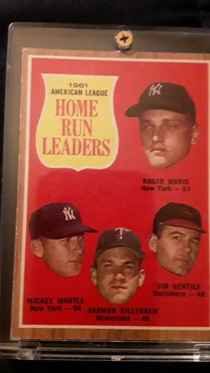 1961 topps homerun leaders Maris n Mantle for Sale in Westminster, CO