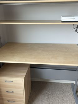 Desk w/ Shelves & Matching 3 Drawers for Sale in Snohomish,  WA