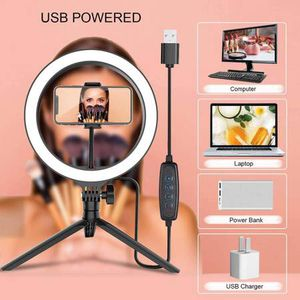 "10"" Ring Light with Tripod Stand and Phone Holder, Brokuca Selfie Ring Light USB LED Ringlight for Makeup/Live Streaming/YouTube Video/Photography, C for Sale in Walnut, CA"