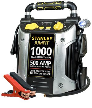 STANLEY J5C09 Power Station Jump Starter, Air Compressor, Battery Clamps for Sale in South Brunswick Township, NJ