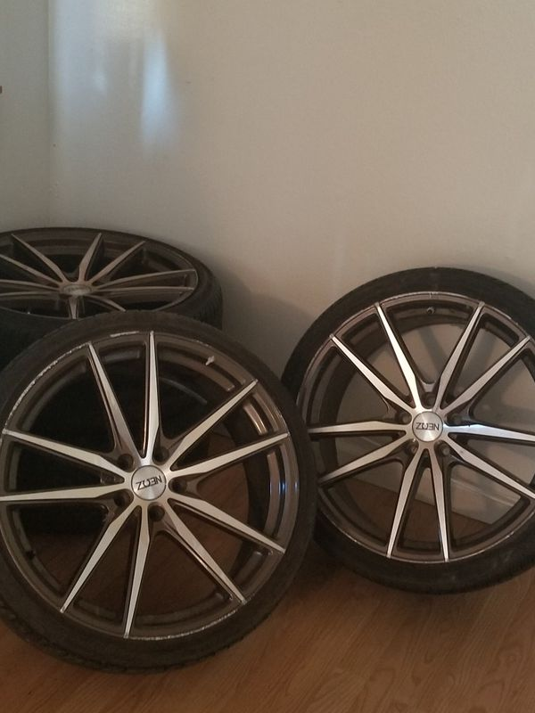 ATTN:: PLEASECREAD ENTIRE AD:;TIRES AND WHEELS 2 GETHER $#$ 700.00 SIZE IS 245/35/zR20 off set 35
