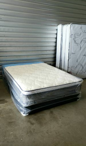 NEW FULL PILLOWTOP MATTRESS AND BOX SPRING 2PC, bed frame not included on price for Sale in Lake Worth, FL