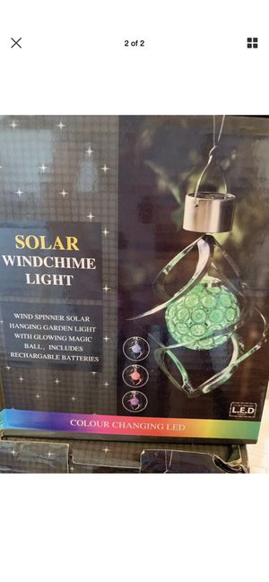 Solar wind chime for Sale in Greenwood, IN