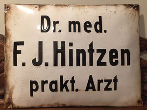 Enamel Physicians sign from Germany for Sale in Alexandria, VA