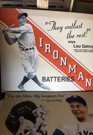 Old baseball poster for Sale in Oceanside, CA