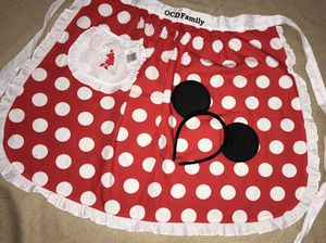 Minnie's mouse apron and ears band from Disney for Sale in San Jose, CA