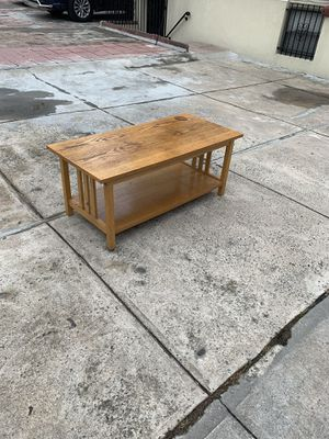 Rectangular wood coffee table Minor wear for Sale in Queens, NY