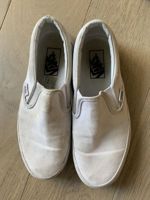 White Van Slip-Ons, Size 6.5 for Sale in Portland, OR