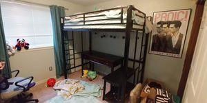 Loft Bed - Twin - Black Metal for Sale in Kennewick, WA