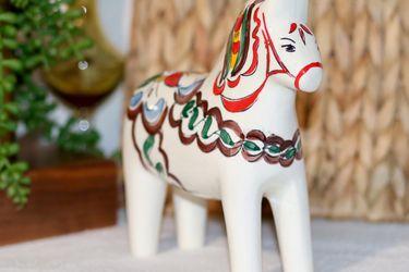 Ceramic Swedish Dalahorse, made in Brazil for Sale in Monrovia,  CA