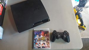 Ps3 Slim complete w/1 game 1 controller and cables for Sale in Rancho Cucamonga, CA