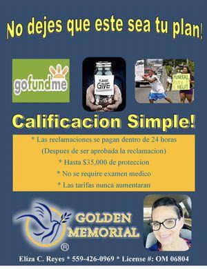 Golden memorial final expense for Sale in Reedley, CA