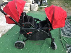 Options Double stroller with baby insert for Sale in Salt Lake City, UT