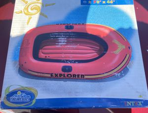 """Explorer 200 inflatable boat -Two person- Brand New 78"""" x 46"""" Paddles Not included for Sale in Long Beach, CA"""