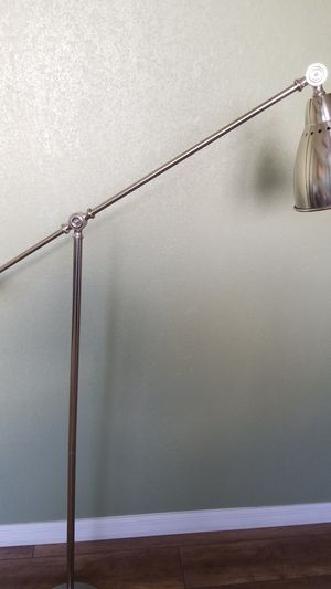 Beautiful brushed nickel floor lamp for Sale in Chino, CA