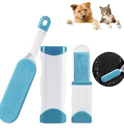 Lint Brush - Pet Hair Remover Brush - Dog & Cat Hair Remover with Self-Cleaning Base - Efficient Double Sided Animal Hair Removal Tool - Perfect for C for Sale in Pico Rivera,  CA