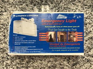 *Quantum Emergency Light with 8-foot cord set #17031-3 for Sale in Revere, MA