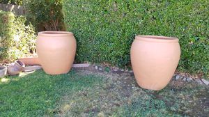 Matching set clay pots for Sale in Sacramento, CA