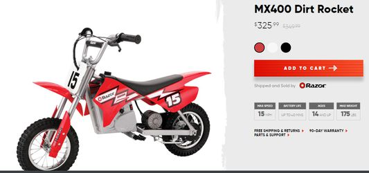 Razor MX 400 electric motorbike for Sale in Snellville,  GA