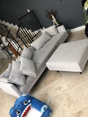 West Elm Sofa/ sectional with ottoman. for Sale in Miami, FL