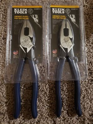 Klein Tools Lineman's Pliers- Fish Tape Pulling $25 EACH!!! for Sale in Fullerton, CA