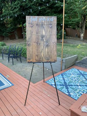 Seating chart wood sign for Sale in Kirkland, WA