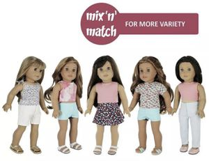PZAS Toys 7 Outfit Set, Compatible with American Girl Doll Clothes 18 Inch Doll for Sale in Irwindale, CA