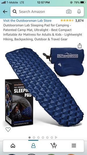 Camping pad & pillow set backpacking travel compact for Sale in Bothell, WA