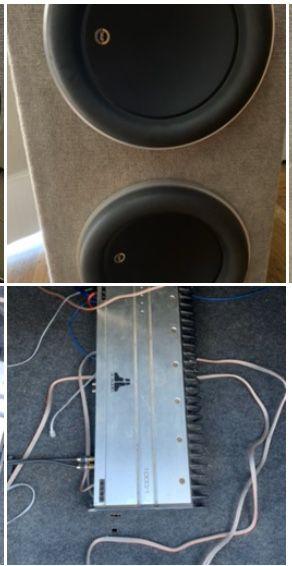 JL Audio 2 12s W-7 w/box 1000/1 mono amp for Sale in Richmond, CA