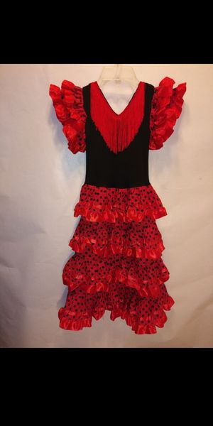 Spanish Flamenco Dress Fancy red/black for Sale in Pinellas Park, FL