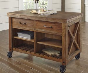 Solid wood kitchen island/hutch/bar for Sale in Los Angeles, CA