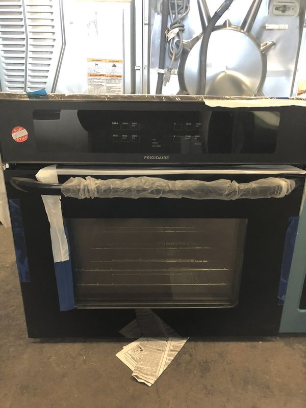 """30"""" NEW FRIGIDAIRE BLACK WALL OVEN WITH WARRANTY"""
