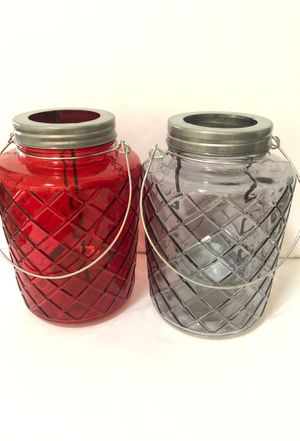"""8""""x6"""" farmhouse/rustic glass outdoor/indoor candle holders for Sale in Las Vegas, NV"""