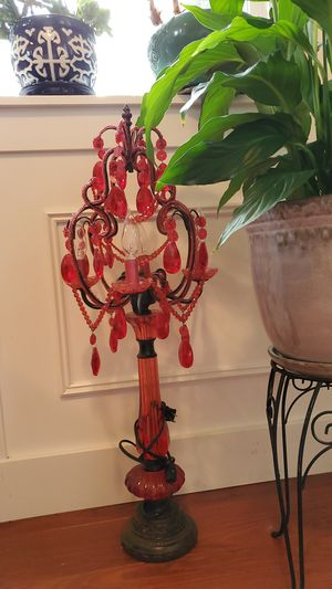 Red Chandelier lamp with bulbs for Sale in Tacoma, WA
