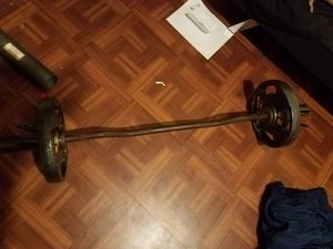 Curl bar with 25s for Sale in Fort Lauderdale, FL