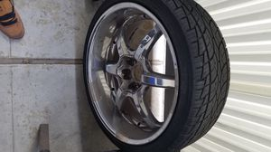 22 inches rims with tires came off a 2007 dodge charger for Sale in Canoga Park, CA