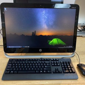 HP Pavillion 23 Full Set Desktop All in One Runs great Warranty Included for Sale in Huntington Beach, CA