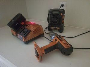 Used ridgid drill combo kit for Sale in Hesperia, CA