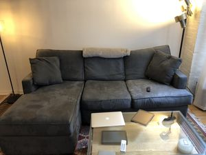Slate grey sectional couch for Sale in Jersey City, NJ
