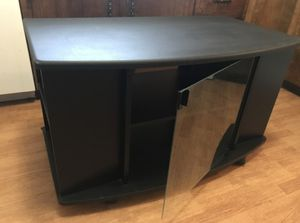 Black TV Stand / Blu Ray/ CD / Stereo Cabinet for Sale in Las Vegas, NV