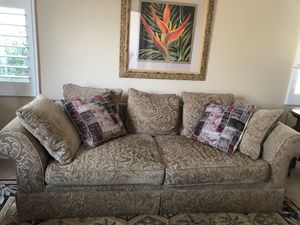 Couch sage green for Sale in Hemet, CA