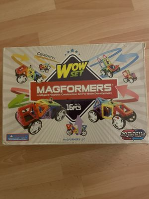 Magnaformers - kids wow set - 16 piece toy for Sale in San Diego, CA