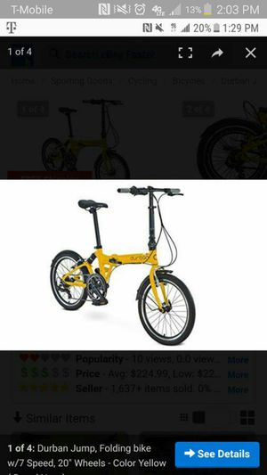 Durban jump folding bicycle for Sale in Humble, TX