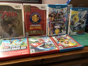 Selling Wii U, Wii & games for both systems $125 for Sale in Mesa, AZ