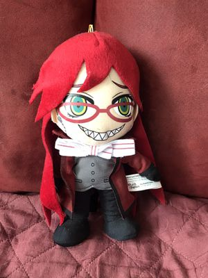 grell black butler plushie for Sale in Palatine, IL